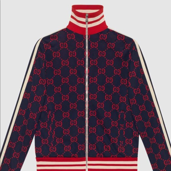 d419d61fe Gucci Jackets & Coats | Gg Jacquard Cotton Jacket | Poshmark